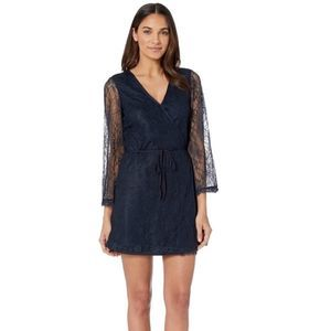 NWT Cupcakes & Cashmere Lace Wrap Lined Dress L